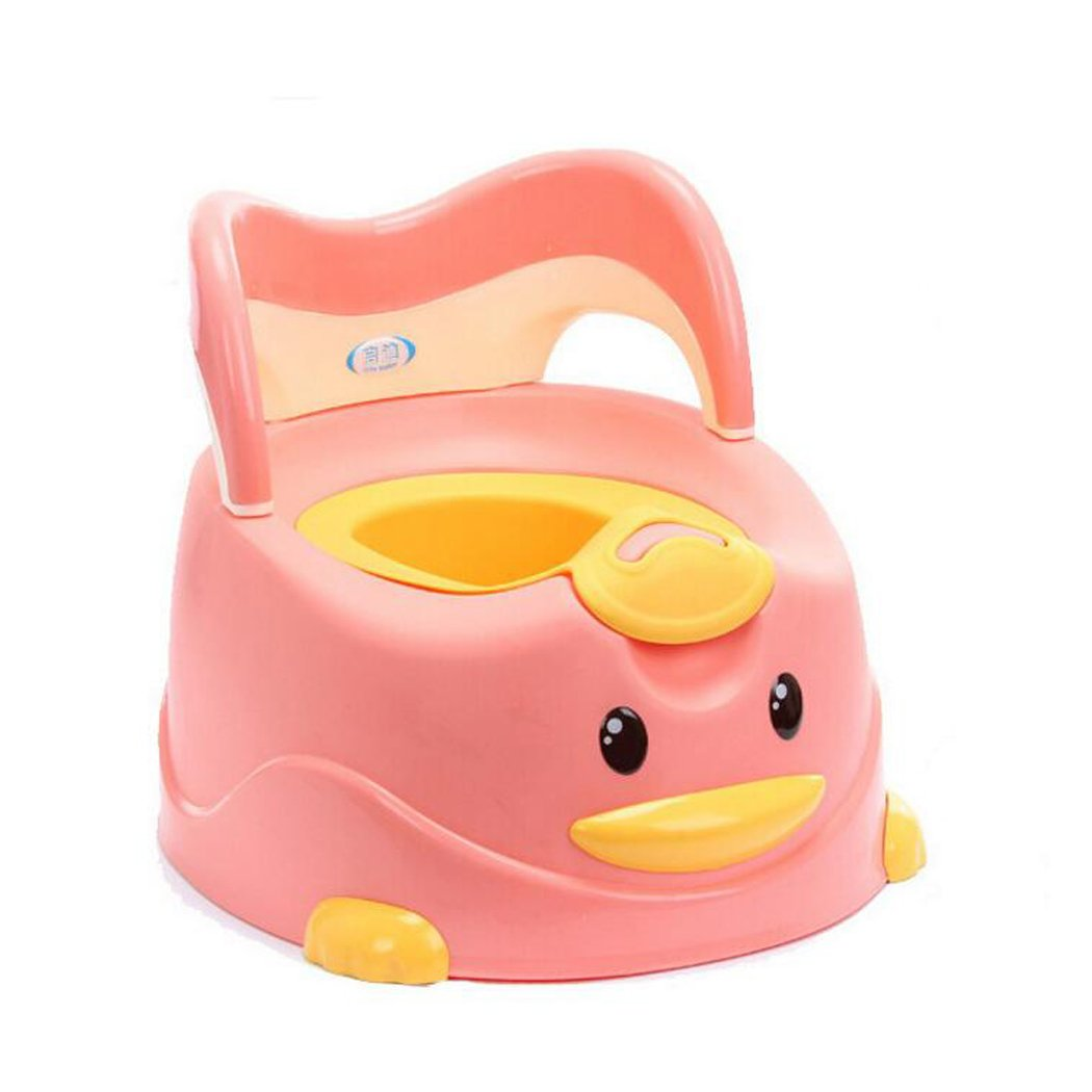 JUNBOSI 0-6 Years Old Multifunctional Children's Potty Baby Toilet Potty Chair Baby Extra Large Thick Cartoon Stool Chair Bathroom Pee Trainer (Color : Pink)