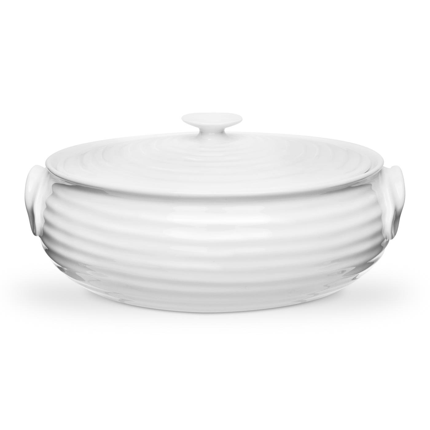 Portmeirion Sophie Conran White Oval Casserole, Small Portmeirion USA 491854