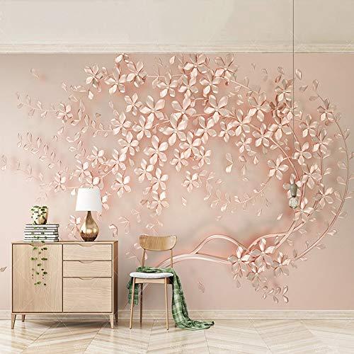 Fiori 3d Di Carta.Amazon Com 3d Wallpaper Moderna Astratta Di Arte Sollievo Rosa
