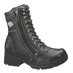 Harley-Davidson Women's Tessa Casual Boot ,Black,7 M