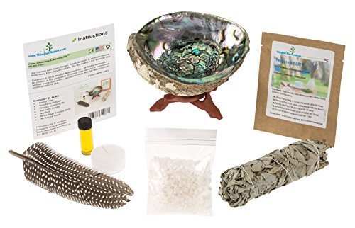 home-cleansing-blessing-kit-tm-with-abalone-smudging-bowl-wooden-stand-california-white-sage-smudge-