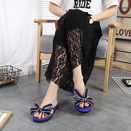 de Bescita EVA Azul Sandalias Vestir Goma Para de Mujer qan6PafC