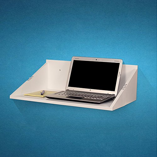 SLS Vision. Floating Foldable White Lap Top Wall Desk or Storage. W04