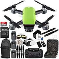 DJI Spark Portable Mini Drone Quadcopter (Meadow Green) + DJI Spark Remote Controller EVERYTHING YOU NEED Ultimate Bundle