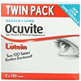Bausch + Lomb Ocuvite Eye Vitamin & Mineral Supplement with Lutein - 240 Tablets (Pack of 3)