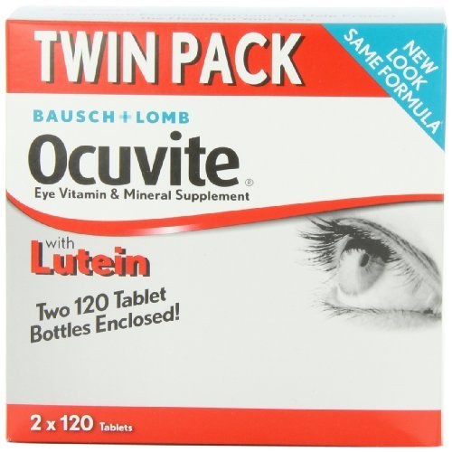 Bausch + Lomb Ocuvite Eye Vitamin & Mineral Supplement with Lutein - 240 Tablets (Pack of 3) by Bausch & Lomb