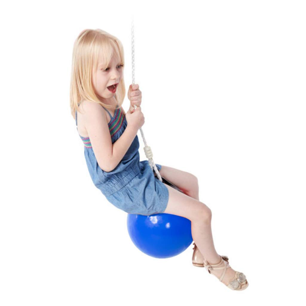 SM SunniMix Heavy Duty Kids Swing Seat Buoy Ball Swings Set with Hanging Rope Child Birthday Gift for Boys Girls Blue