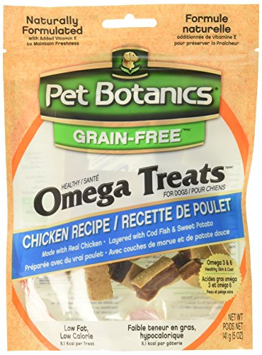 3 Pack Pet Botanics Healthy Omega Treats - Chicken (Three 5 oz Packages) Total 15 oz
