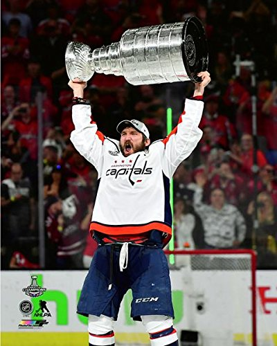 "Alex Ovechkin Washington Capitals Stanley Cup Trophy Photo (Size: 8"" x 10"")"