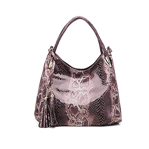 Big Handbags For Women ,Serpentine Leather Tote Bags Hobos Animal Prints Shoulder Bag Khaki