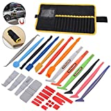 FOSHIO Car Body Film Window Wrap Mega Tool Kit, Vinyl Sticks with Magnets for Curve or Gap Reaching, Added Mini Squeegees and Storage Bag