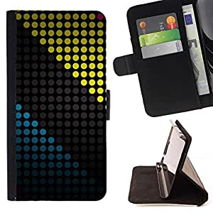 Momo Phone Case / Flip Funda de Cuero Case Cover - COLOR Modelo de puntos - Samsung Galaxy A5 ( A5000 ) 2014 Version