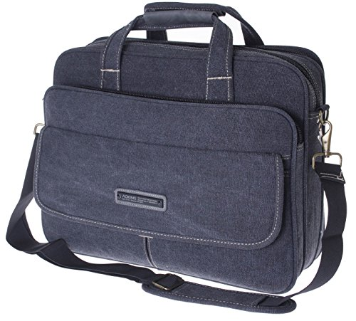 Hombre Bolso de hombro Bolso de viaje de hombres vuelo umhänger City Messenger Bag Uni Escuela trabajo y tiempo libre hombro Bag Bolsa de deporte Backpack Laptop funda compartimento negro
