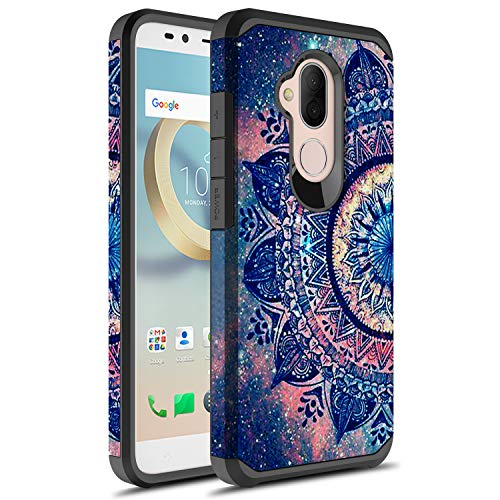 T-Mobile Revvl 2 Plus Case, Alcatel 7 Case, Alcatel 7 Folio Case, Rosebono Slim Hybrid Dual Layer Graphic Fashion Colorful Cover Armor Case for Alcatel 7 Folio (Mandala)
