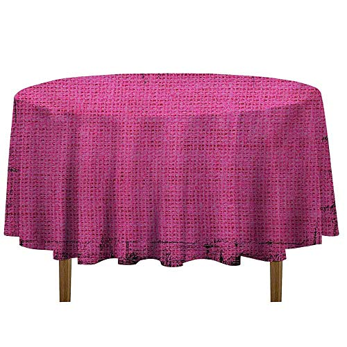 (Douglas Hill Magenta Printed Tablecloth Futuristic Design in Old Impressions Latex Grungy Murky Surface Pastel Colors Desktop Protection pad D35 Inch Fuchsia Pink)