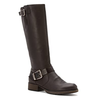 Rieker Black Leather High Boot Eu 42