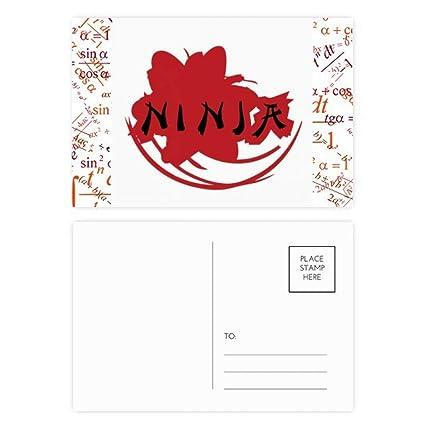 Juego de 20 tarjetas de felicitación japonesas con siluetas ...