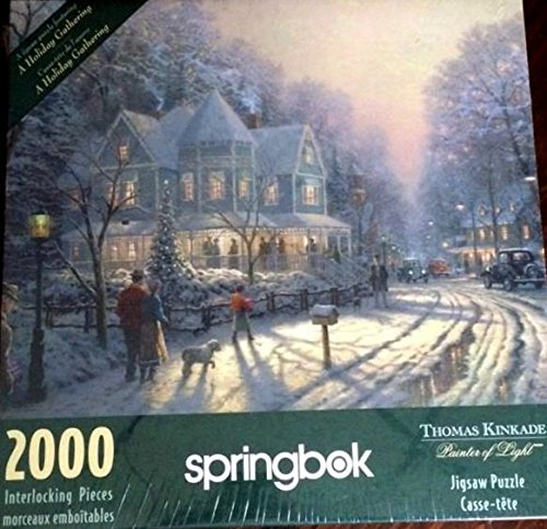 Springbok Thomas Kinkade Painter of Light, A Holiday Gathering 2000 Piece Jigsaw Puzzle