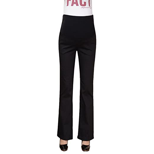 d148516410031 Image Unavailable. Image not available for. Color: Zhuhaitf Women Flare  Belly Care Pants Loose Maternity Trousers For Comfortable