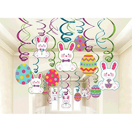 Easter Mega Value Pack Swirl Decorations (Hanging Easter)