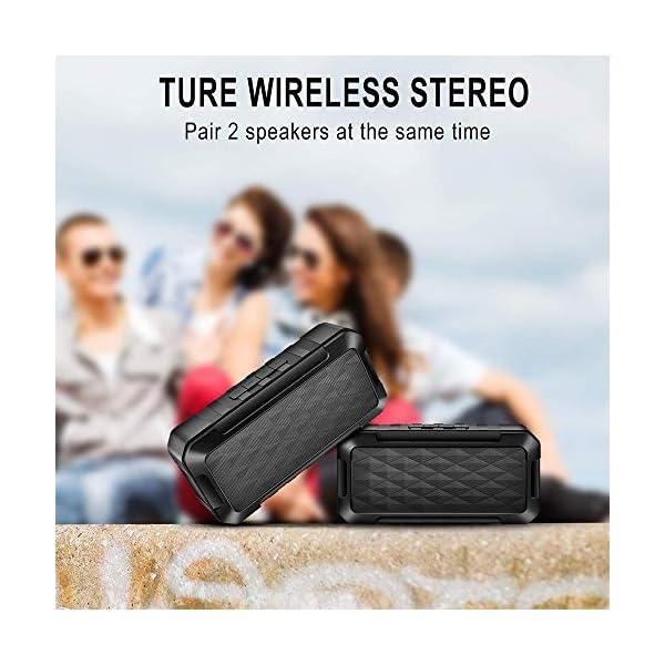 Enceinte Bluetooth Portable, 5W Haut-Parleur Bluetooth sans Fil avec autonomie de 10 Heures, Basses Puissantes, Mains Libres Téléphone, Carte TF Support, Microphone et Chargement USB 2