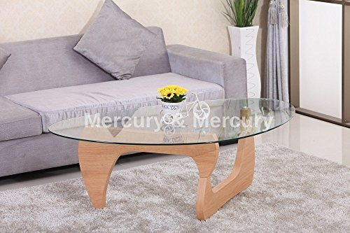Fine Coffee Tables Designer Oval Triangle Form Glas Couchtisch