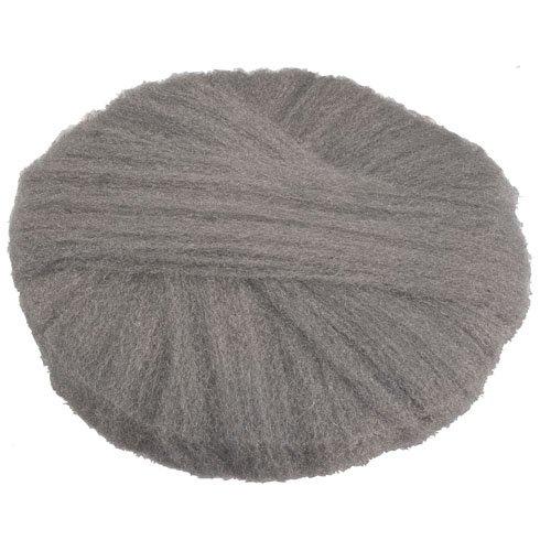 GMT 120202 Radial Steel Wool Pads, Grade 2 (Coarse): Stripping/Scrubbing, 20'', Gray (Case of 12)