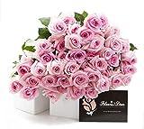 Blooms2Door 50 Pink Roses (Farm-Fresh, Long Stem - 50cm) - Farm Direct Wholesale Fresh Flowers