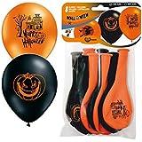 8 Luftballons * HALLOWEEN * - Auch für Kindergeburtstag oder Party // mit 85cm Umfang // Luftballon Ballons Deko Motto Kinderparty Hexe Verkleidung Karneval Fasching