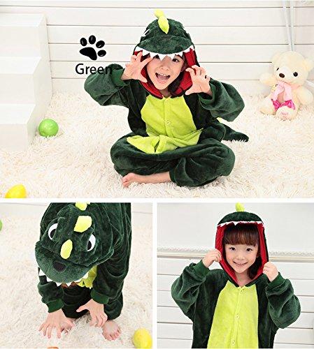 Kids Onesie Costumes Children' Dinosaurier Tonwhar Cosplay Grün Halloween s Kigurumi Animal Mehrfarbig wIqRYfd