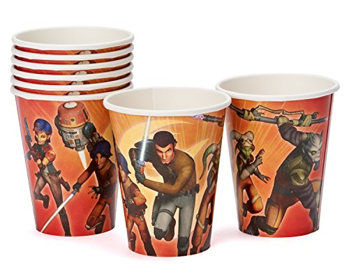 American Greetings Star Wars Rebels 9-Ounce Paper Party Cups (8 Count), Party Supplies
