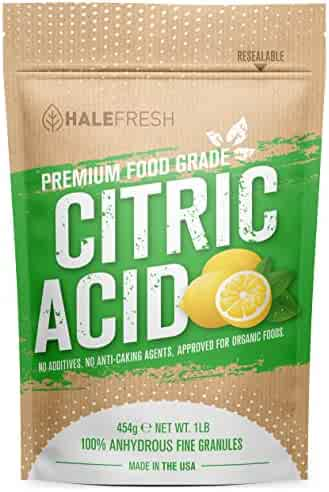 Citric Acid - 1 lb Pure for Bath Bombs - Kosher with Resealable Pouch - USA Made and Approved for Organic Foods