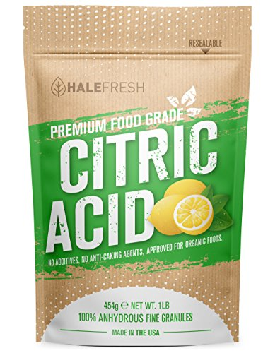 (Citric Acid - 1 lb USA Made Pure for Bath Bombs - Gluten Free Kosher No GMO's - Verified for Organic Foods)