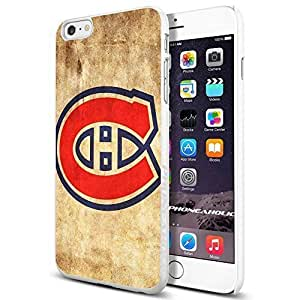 NHL HOCKEY Montreal Quebec Canadiens Logo, , Cool iPhone 6 Plus (6+ , 5.5 Inch) Smartphone Case Cover Collector iphone TPU Rubber Case White [By PhoneAholic]