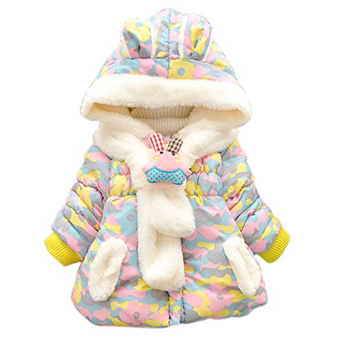Rabbit Winter (Baby Girls Infant Winter Rabbit Hood Outerwear Hoodie Coats Camouflage Jackets)