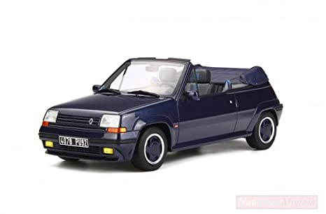 NEW OTTOMOBILE OT280 Renault 5 Turbo CABRIOLET by EBS Sport Blue 1:18 Die Cast