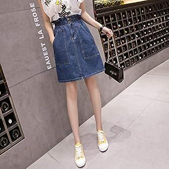 DER Fat Mm - Falda de Jean para Mujer Azul Azul XXXL: Amazon.es ...