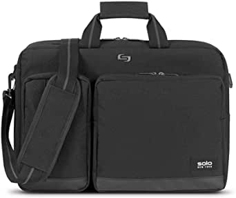 Solo Duane 15.6 Inch Laptop Hybrid Briefcase, Converts to Backpack