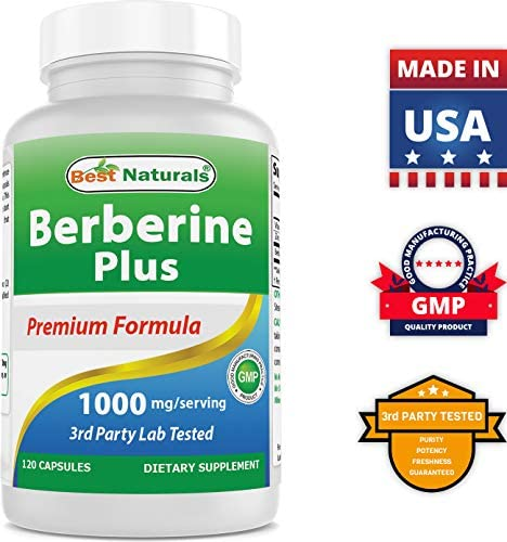 Best Naturals Berberine Plus 1000mgServing 120 Capsules  Promotes Healthy Healthy Glucose Metabolism