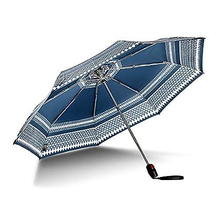 Paraguas plegable automatico Mujer niño Hombre an- Sombrilla de Tela automática Que golpea Tres Veces