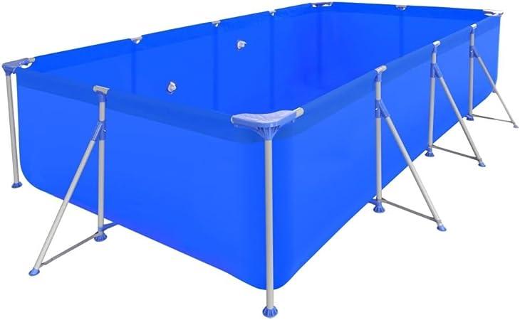 vidaXL Piscina Redonda Desmontable Escalera Acero 394x207x80 cm Bañera Jacuzzi: Amazon.es: Hogar