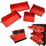 stackable trays tools - 4pc Magnetic Toolbox Tray Set Tool Box Cabinet Side Shelf Storage Van Workshop