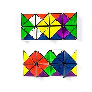 Tiandirenhe Infinite Magic Cube Puzzle Set Transforming Geometric Decompression Star irregular Brain Teasers Toys for Kids Adult