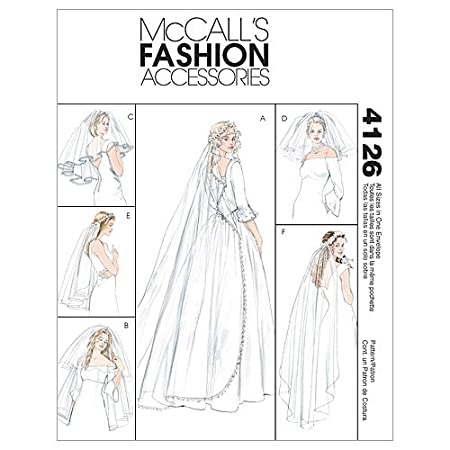 Amazon McCalls Patterns M4126 Bridal Veils One Size Only Arts Crafts Sewing