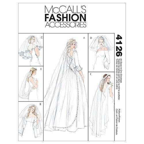Amazon.com: McCall\'s Patterns M4126 Bridal Veils, One Size Only ...