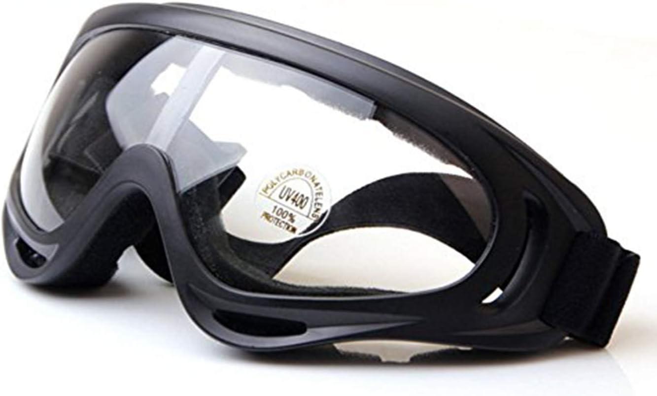 WorldShopping4U Táctico UV400 Anti-UV Snowboard Gafas de Sol Gafas de Sol Gafas A Prueba de Viento a Prueba de Polvo Gafas Protectoras Profesionales de esquí de Invierno (Transparente)