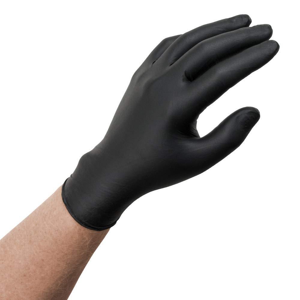 Microflex (MFXMK296L) MidKnight Black Powder-Free Nitrile Examination Gloves - Large, 100ct. by Microflex (Image #1)