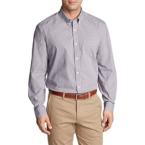 Eddie Bauer Men's Wrinkle-Free Pinpoint Oxford Relaxed Fit Long-Sleeve Shirt - S Long Sleeve Relaxed Fit Oxfords