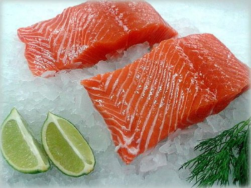 FRESH KING SALMON Fillets (2 POUNDS) (Atlantic Salmon)