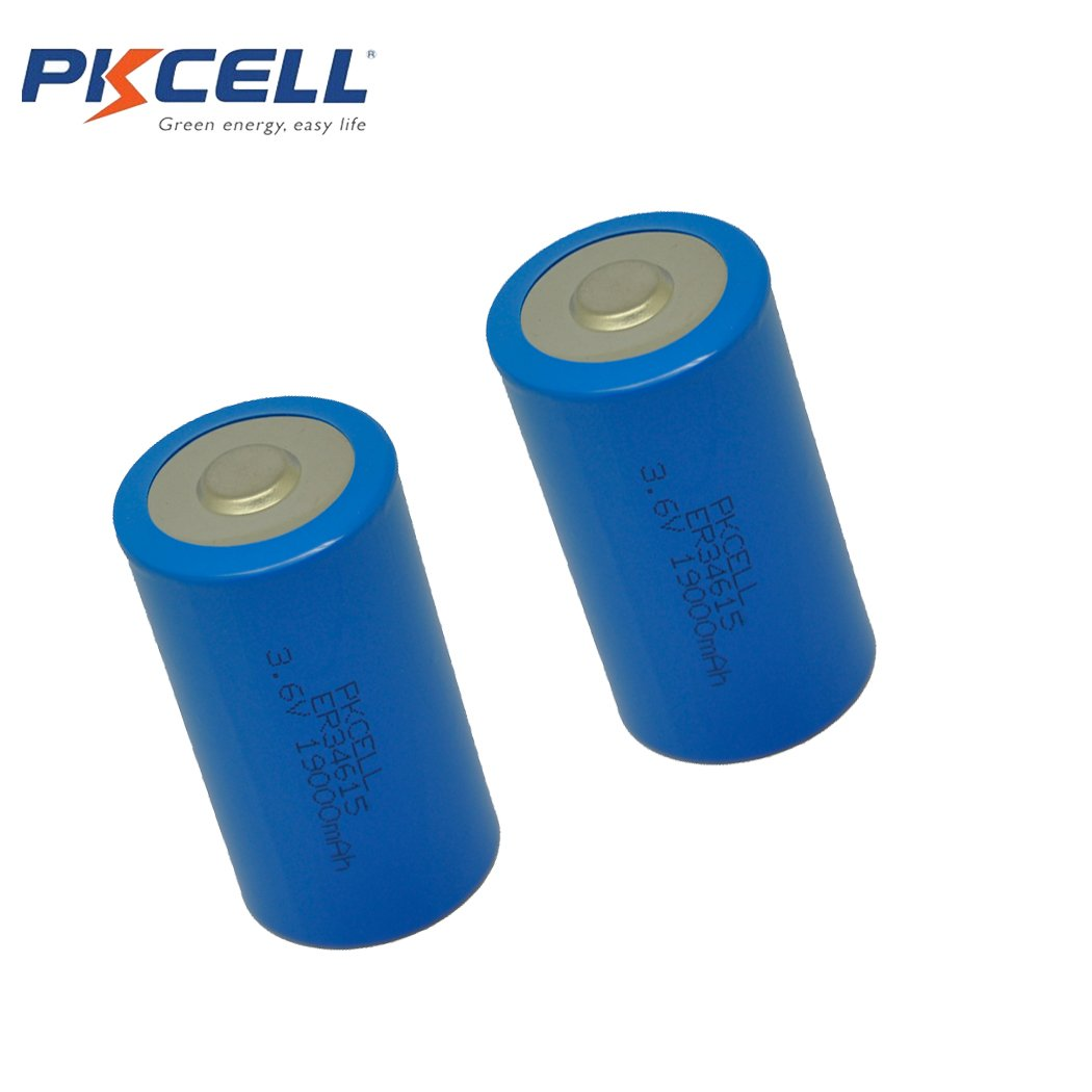 3.6v Lithium Battery ER34615 19000mAh D Battery With Button Top Battery by PKCELL